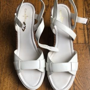 Cole Haan x Nike Air white wedge sandal